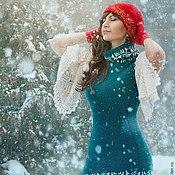 """Платья ручной работы. Ярмарка Мастеров - ручная работа Платье """"Изумрудные снежинки"""". Handmade."""