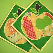 """Для дома и интерьера ручной работы. Ярмарка Мастеров - ручная работа Прихватки """" Яблочко"""". Handmade."""