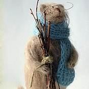 Куклы и игрушки ручной работы. Ярмарка Мастеров - ручная работа Кот с вязанкой хвороста. Handmade.