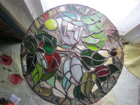 Освещение ручной работы. Ярмарка Мастеров - ручная работа. Купить светильник тиффани. Handmade. Комбинированный, Витраж, стекло витражное