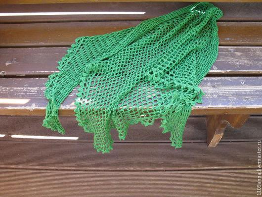 Шали, палантины ручной работы. Ярмарка Мастеров - ручная работа. Купить Зеленная лёгкая шаль. Handmade. Шаль, летняя шаль