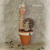 Куклы и игрушки ручной работы. Ярмарка Мастеров - ручная работа кофейная улитка. Handmade.