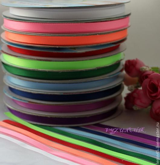 Шитье ручной работы. Ярмарка Мастеров - ручная работа. Купить Лента репсовая 6 мм 18 цветов. Handmade. Лента