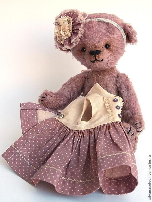 Мишки Тедди ручной работы. Ярмарка Мастеров - ручная работа. Купить Мишка Розочка (16 см). Handmade. Мишка