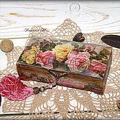 """Для дома и интерьера ручной работы. Ярмарка Мастеров - ручная работа Купюрница """"Rose"""". Handmade."""