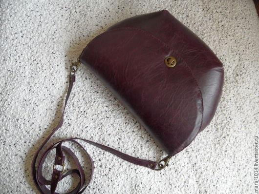 Женские сумки ручной работы. Ярмарка Мастеров - ручная работа. Купить Бордовая винтажная сумочка. Handmade. Бордовый, натуральная кожа