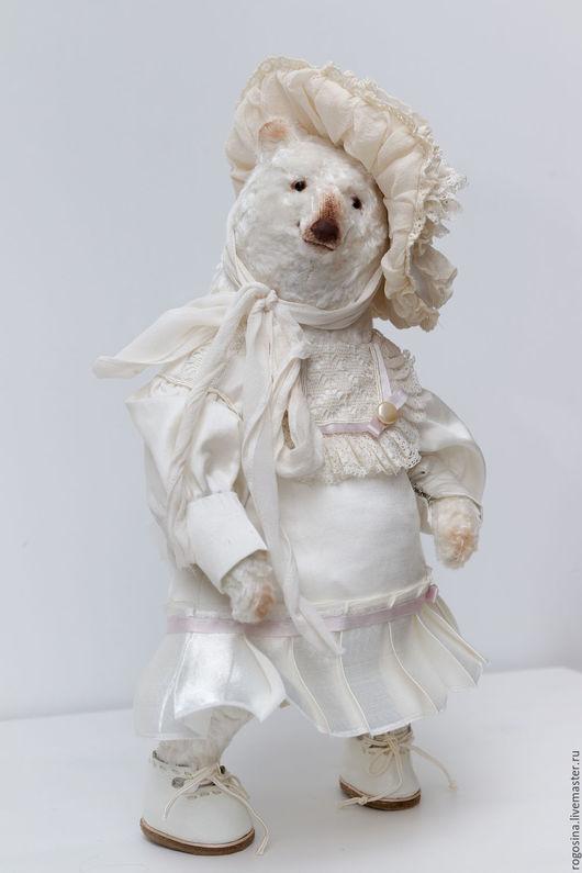 Мишки Тедди ручной работы. Ярмарка Мастеров - ручная работа. Купить Бекки мишка тедди. Handmade. Белый, Рогозина Любовь