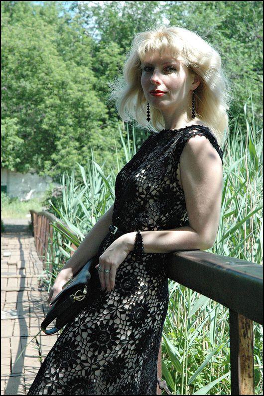 """Платья ручной работы. Ярмарка Мастеров - ручная работа. Купить Авторское платье """"lady at night"""". Handmade. Черный"""
