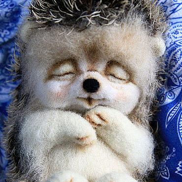 Куклы и игрушки ручной работы. Ярмарка Мастеров - ручная работа Сладкий сон ёжика Проши.. Handmade.