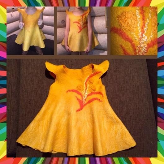 Платья ручной работы. Ярмарка Мастеров - ручная работа. Купить Платье для девочки. Handmade. Сарафан для девочки, шерсть 100%