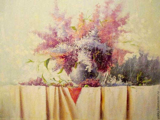 Картины цветов ручной работы. Ярмарка Мастеров - ручная работа. Купить Сирень Под Солнечным Дождём. Handmade. Фиолетовый, крупная