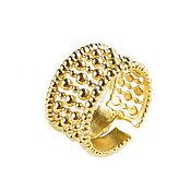 Украшения handmade. Livemaster - original item Gold ring with small balls, textured ring gift. Handmade.