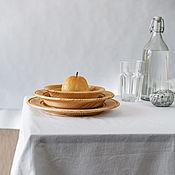Посуда handmade. Livemaster - original item Set of plates made of Cedar series