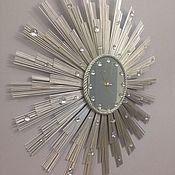 """Для дома и интерьера ручной работы. Ярмарка Мастеров - ручная работа Настенные часы солнце""""Брызги шампанского- 60"""". Handmade."""