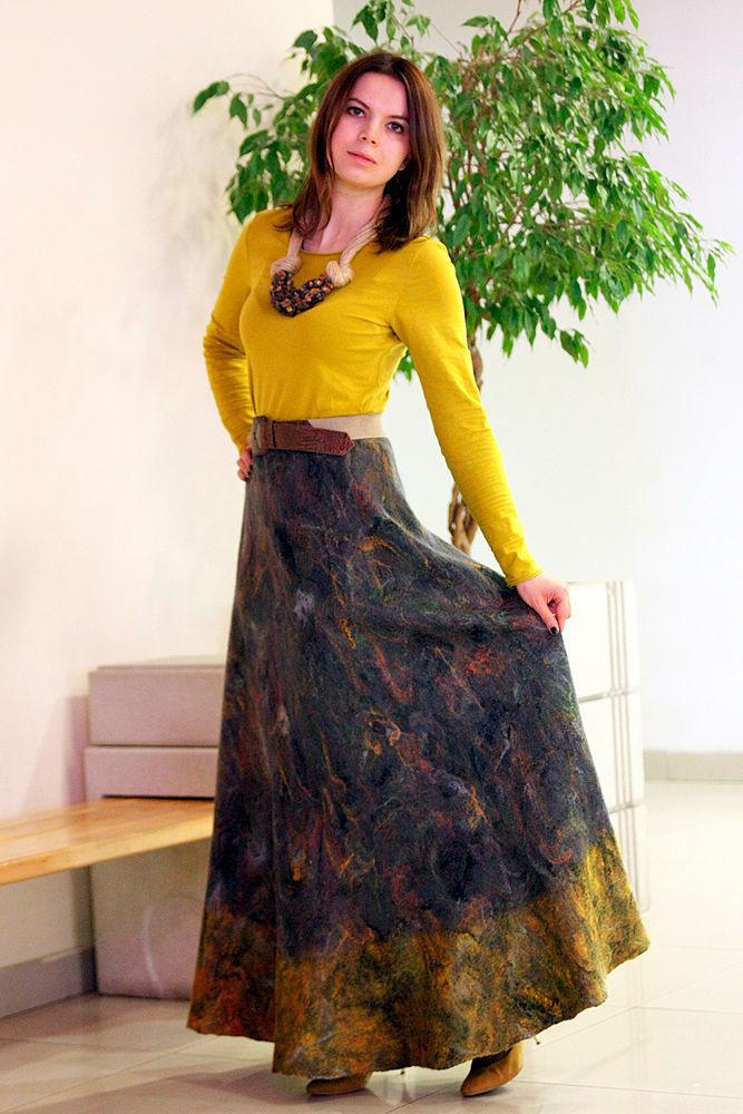 Купить валяную юбку