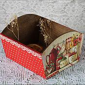 """Для дома и интерьера ручной работы. Ярмарка Мастеров - ручная работа Сухарница- конфетница  """"Уютная кухня"""". Handmade."""