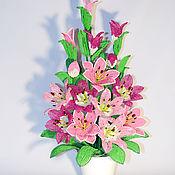 Цветы и флористика ручной работы. Ярмарка Мастеров - ручная работа Лилии из бисера. Handmade.