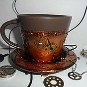 Подарки к праздникам ручной работы. Ярмарка Мастеров - ручная работа Кружка в стиле steampunk (стимпанк). Handmade.