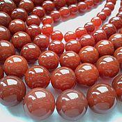 Материалы для творчества handmade. Livemaster - original item Carnelian smooth beads 10mm, 12mm, 14mm, 16mm, 18mm. Handmade.