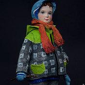 """Куклы и игрушки ручной работы. Ярмарка Мастеров - ручная работа Художественная кукла """"Мальчик с собачкой"""". Handmade."""