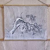 """Картины и панно handmade. Livemaster - original item Wall mural """"Dream of Winter"""". Handmade."""