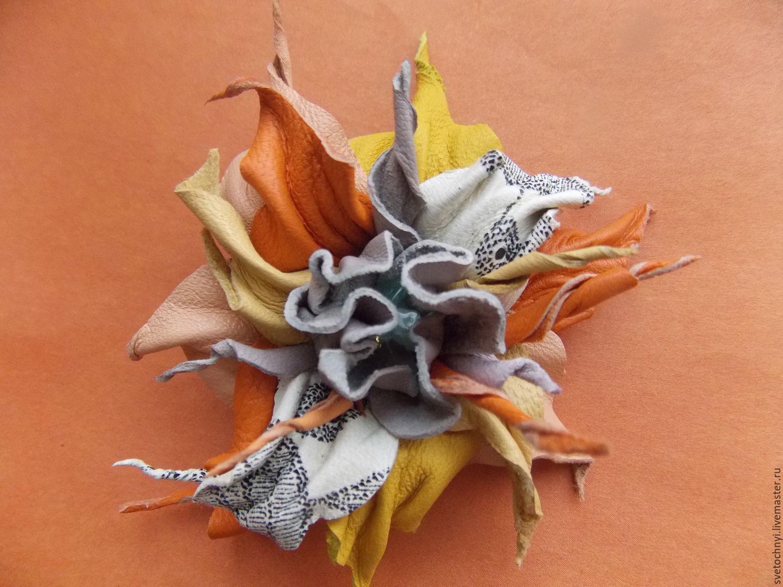 Цветы из кожи как их сделать