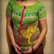 """Одежда ручной работы. Ярмарка Мастеров - ручная работа Кофта """"Влюбленные совы"""". Handmade."""
