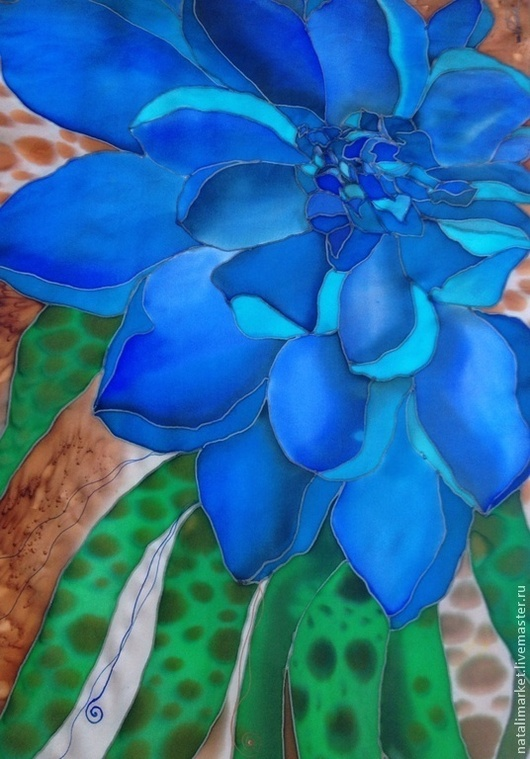 """Шарфы и шарфики ручной работы. Ярмарка Мастеров - ручная работа. Купить Шарф """"Все оттенки синего"""". Handmade. Синий"""