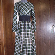 Одежда ручной работы. Ярмарка Мастеров - ручная работа Платье в клетку. Handmade.