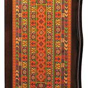 Нарды, шашки ручной работы. Ярмарка Мастеров - ручная работа Нарды, шашки Азия (рамка из красного дерева (13461). Handmade.
