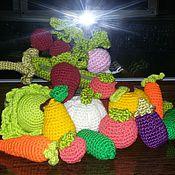 Куклы и игрушки ручной работы. Ярмарка Мастеров - ручная работа Фруктово-овощная корзинка. Handmade.