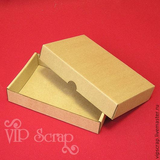 """Упаковка ручной работы. Ярмарка Мастеров - ручная работа. Купить Коробка """"крышка-дно"""" из микрогофрокартона 140х100х30. Handmade. Коробка для сувениров"""