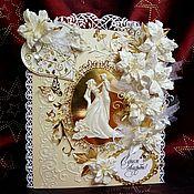 Пригласительные ручной работы. Ярмарка Мастеров - ручная работа Свадебная открытка ручной работы,пригласительный на свадьбу, годовщину. Handmade.