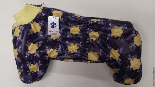 """Одежда для собак, ручной работы. Ярмарка Мастеров - ручная работа. Купить Комбинезон Американский кокер спаниель (фиолетовый """"снежинки""""). Handmade."""