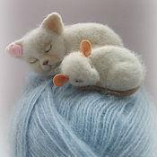 """Украшения ручной работы. Ярмарка Мастеров - ручная работа """"Кошки-мышки"""" броши.. Handmade."""