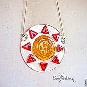 """Для дома и интерьера ручной работы. Ярмарка Мастеров - ручная работа Оконный медальон """"Солнце"""". Handmade."""