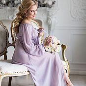 """Одежда ручной работы. Ярмарка Мастеров - ручная работа """"Пудровая сирень"""" - будуарное платье из шифона. Handmade."""