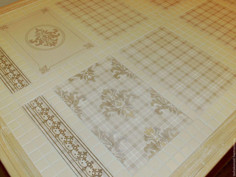 Столешница из керамической плитки на кухне