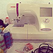 Материалы для творчества ручной работы. Ярмарка Мастеров - ручная работа Вышивальная машина Janome Memory Craft 350e б/у. Handmade.