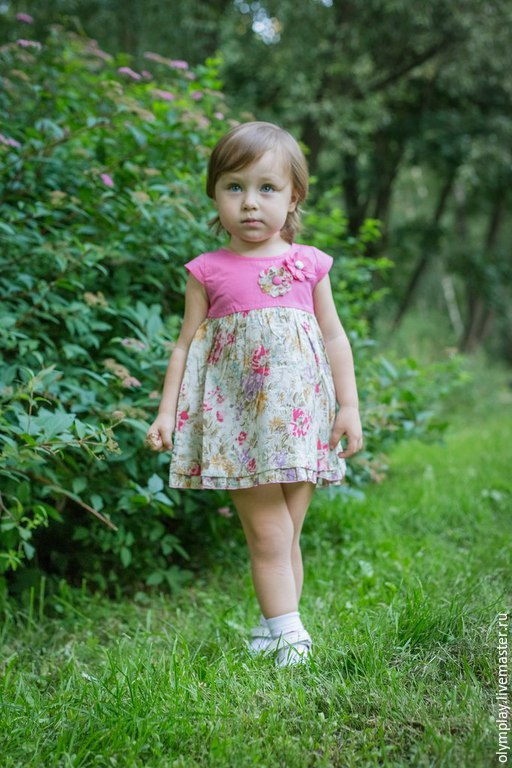 Одежда для девочек, ручной работы. Ярмарка Мастеров - ручная работа. Купить Детское платье (200333). Handmade. Фуксия, купить платье