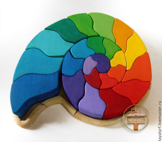Развивающие игрушки ручной работы. Ярмарка Мастеров - ручная работа. Купить Ракушка Деревянная мозаика. Handmade. Мозаика