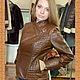 Верхняя одежда ручной работы. Ярмарка Мастеров - ручная работа. Купить Кожаная куртка-косуха со стегаными фрагментами. Handmade.