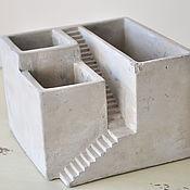 Цветы и флористика handmade. Livemaster - original item Concrete planters square ladder for cacti and succulents. Handmade.