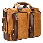 Сумки и аксессуары handmade. Livemaster - original item Leather men`s backpack