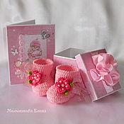 Подарки к праздникам ручной работы. Ярмарка Мастеров - ручная работа Подарочный набор для новорожденной девочки.. Handmade.