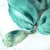 """Украшения ручной работы. Ярмарка Мастеров - ручная работа Колье """"Зеленый океан"""". Handmade."""