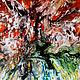 Принт с картины Летний зной в абстрактном стиле. Художник Наталья Жданова. Купить в интернет магазине https://www.livemaster.ru/kaly