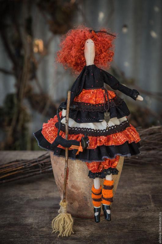 Куклы Тильды ручной работы. Ярмарка Мастеров - ручная работа. Купить Рыжая ведьма. Handmade. Рыжий, ведьмочка, кукла в подарок