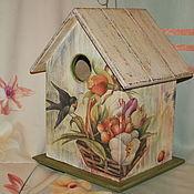 Для домашних животных, ручной работы. Ярмарка Мастеров - ручная работа Скворечник,,Веселые птички,,-10%. Handmade.