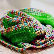 Аксессуары ручной работы. Ярмарка Мастеров - ручная работа Цветной авторский шарф-снуд вязаный крючком. Handmade.